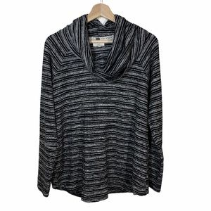 Cupio cowl neck black and gray shirt -size XL